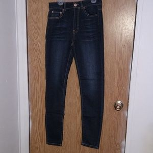 High wasted knit jegging jeans